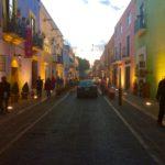 メキシコ、プエブラの町並み。パレットの上にあるみたいなインスタ映えする町♪